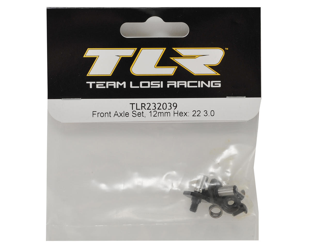 Team Losi Racing 22 3.0 12mm Hex Front Axle Set