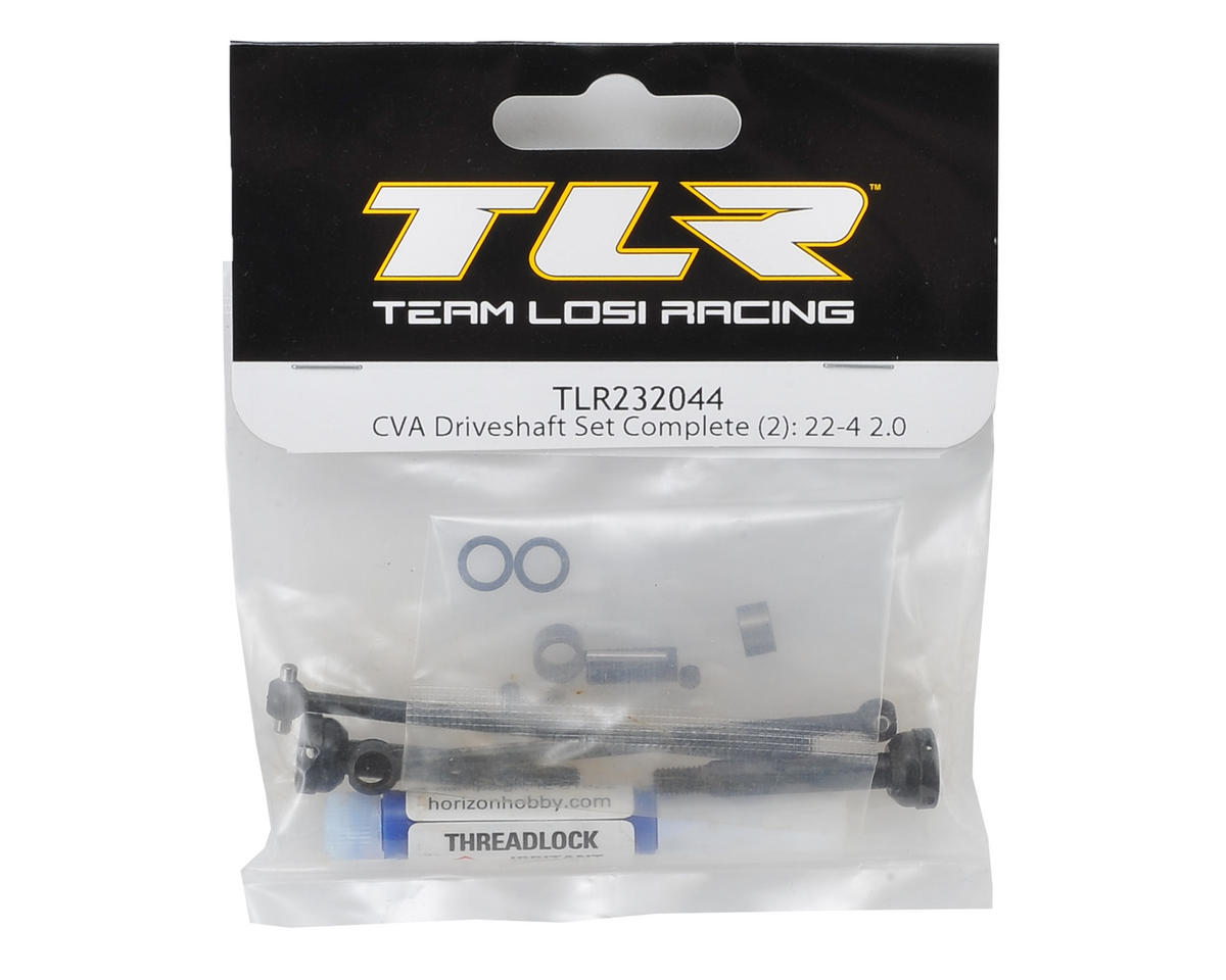 Team Losi Racing 22-4 2.0 Complete CVA Driveshaft Set (2)