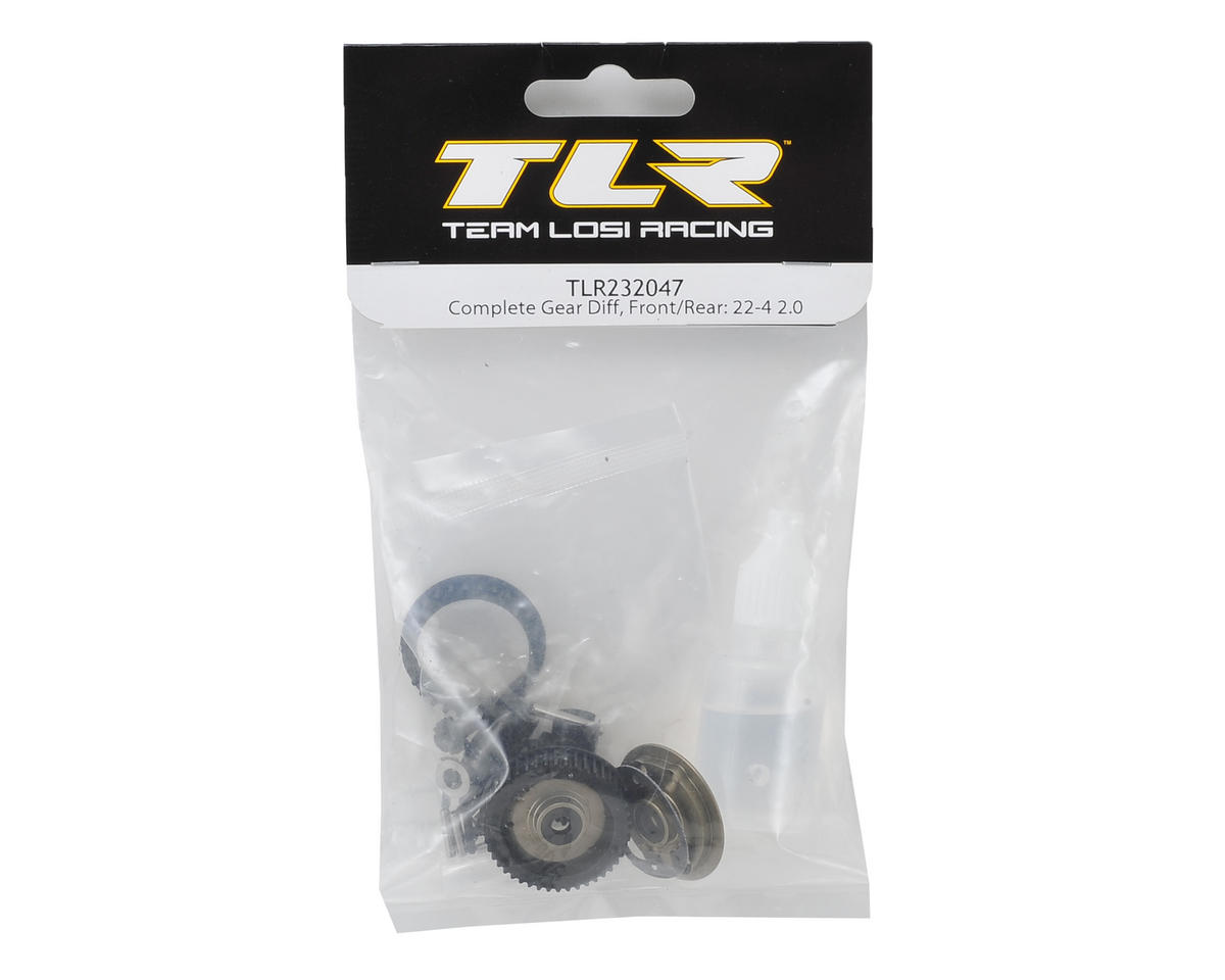 Team Losi Racing 22-4 2.0 Complete Front/Rear Gear Differential