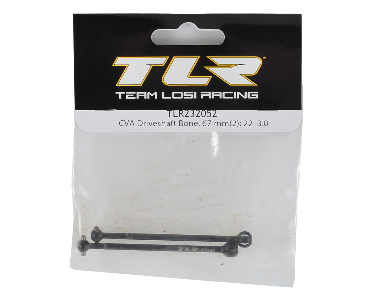 Team Losi Racing 67mm 22 3.0 Drive Shaft Bone (2)