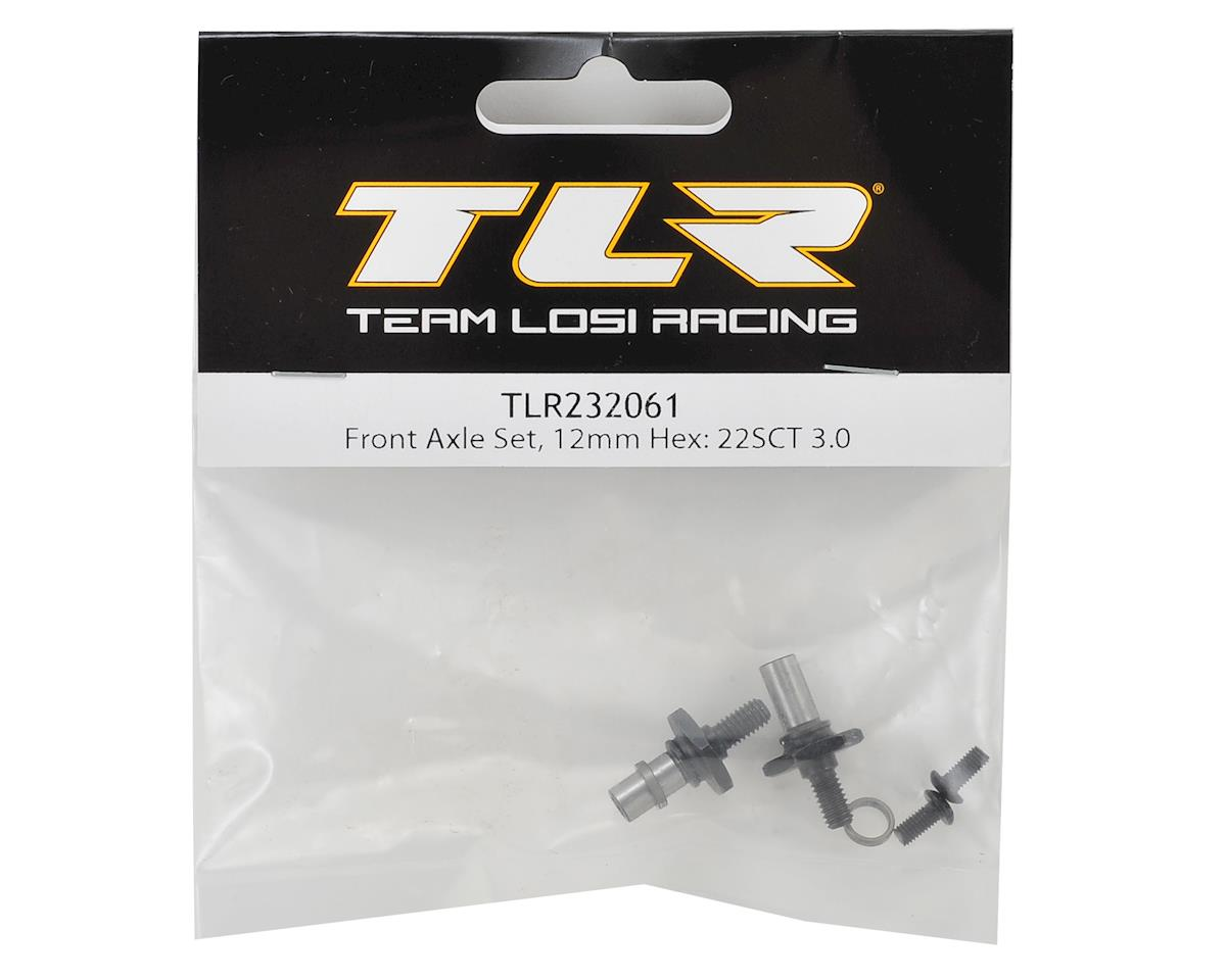 Team Losi Racing 12mm Hex 22SCT 3.0 Front Axle Set