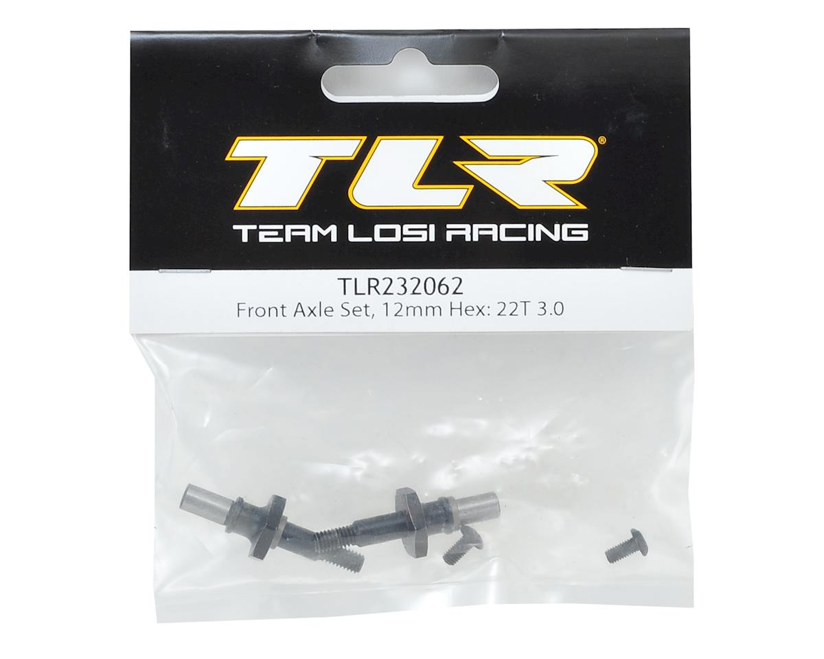 Team Losi Racing 12mm Hex 22T/22SCT 3.0 Front Axle Set