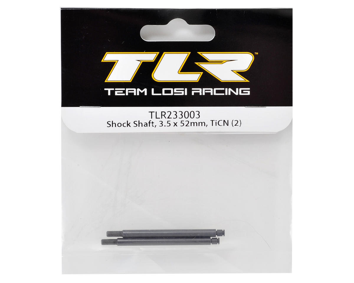 Team Losi Racing 22-4 3.5x52mm TiCn Rear Shock Shaft (2)
