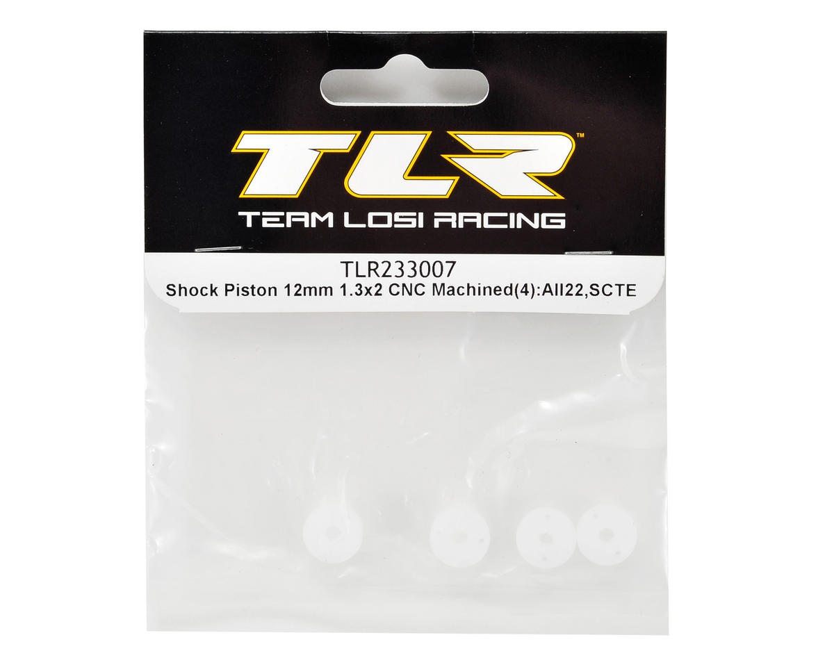 Team Losi Racing 12mm CNC Machined Shock Piston Set (4) (1.3x2)