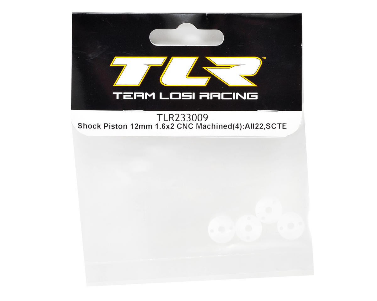 Team Losi Racing 12mm CNC Machined Shock Piston (4) (1.6x2)