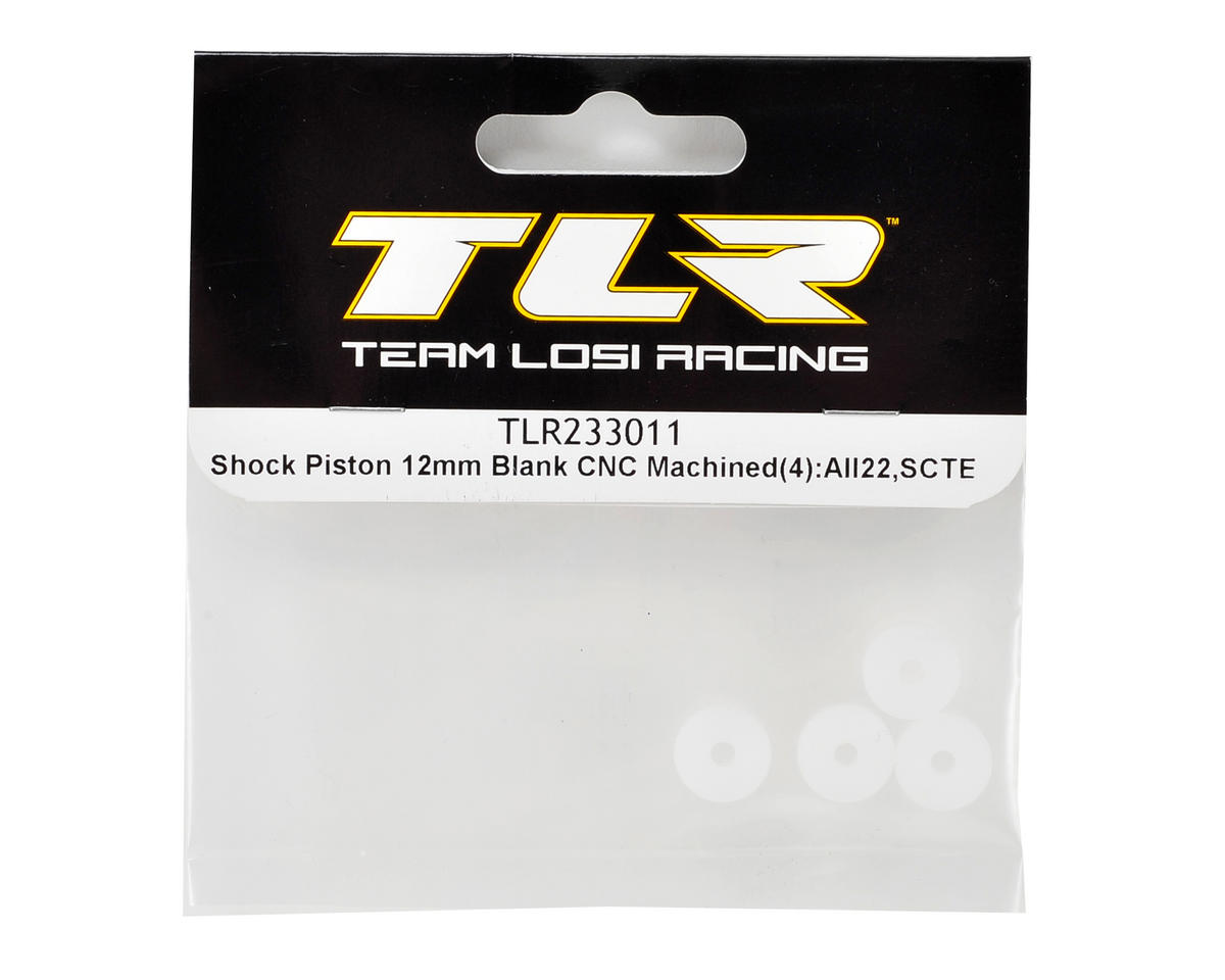 Team Losi Racing 12mm CNC Machined Shock Piston (4) (Blank)