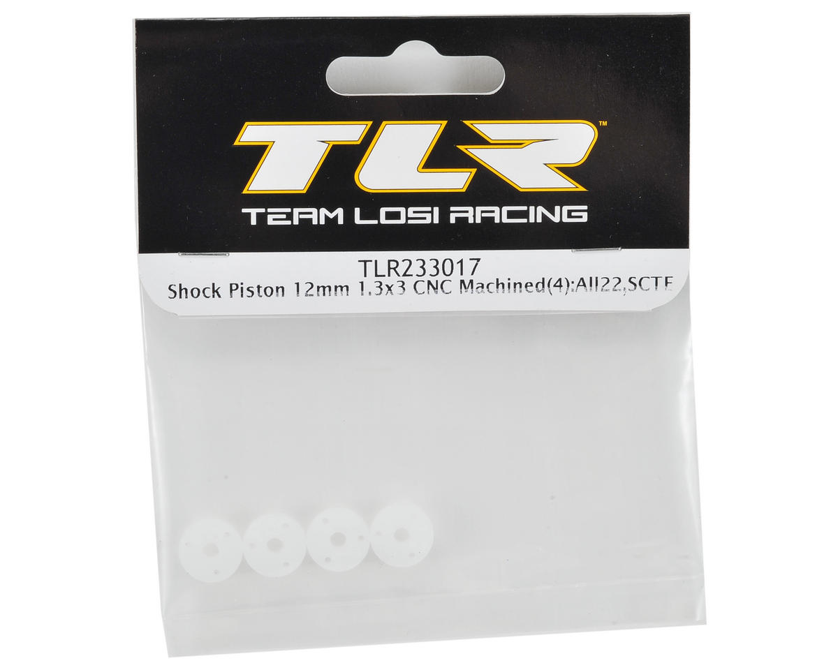 Team Losi Racing 12mm CNC Machined Shock Piston (4) (1.3x3)