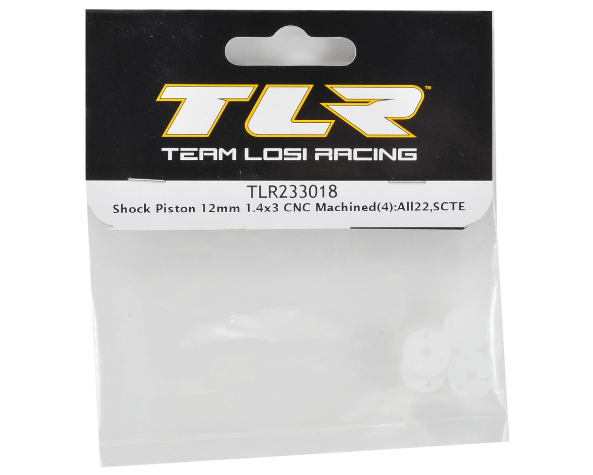 Team Losi Racing 12mm CNC Machined Shock Piston (4) (1.4x3)