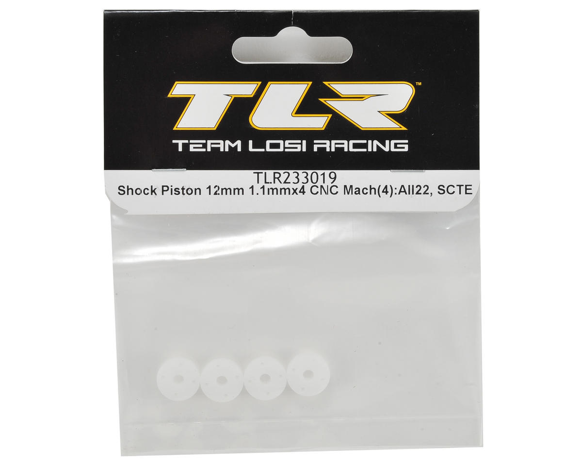 Team Losi Racing 12mm CNC Machined Shock Piston (4) (1.1x4)