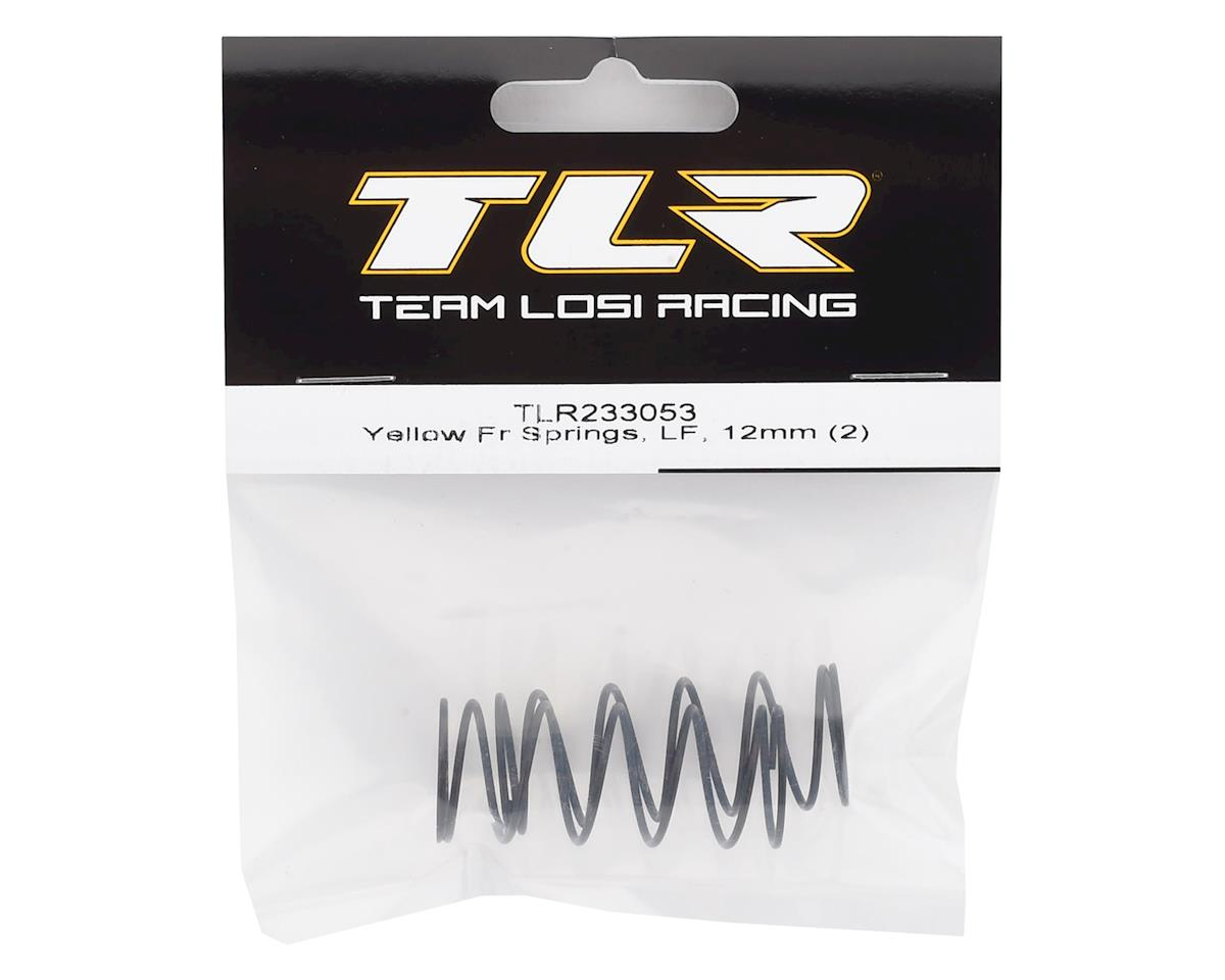 Team Losi Racing 12mm Low Frequency Front Springs (Yellow) (2)