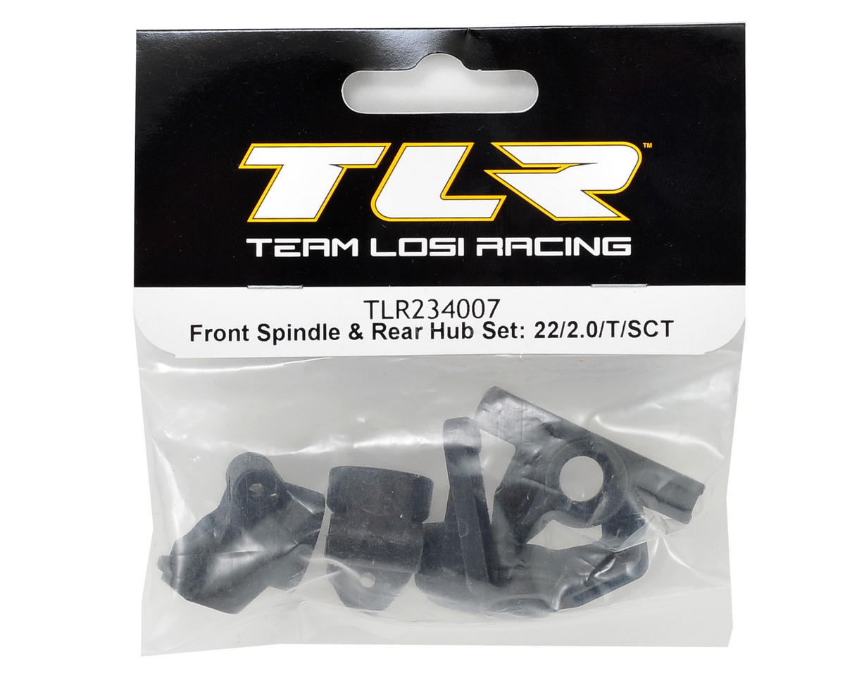 Team Losi Racing 22 2.0 Front Spindle & Rear Hub Set