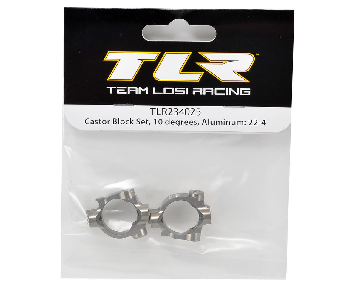 Team Losi Racing 22-4 Aluminum 10° Caster Block Set