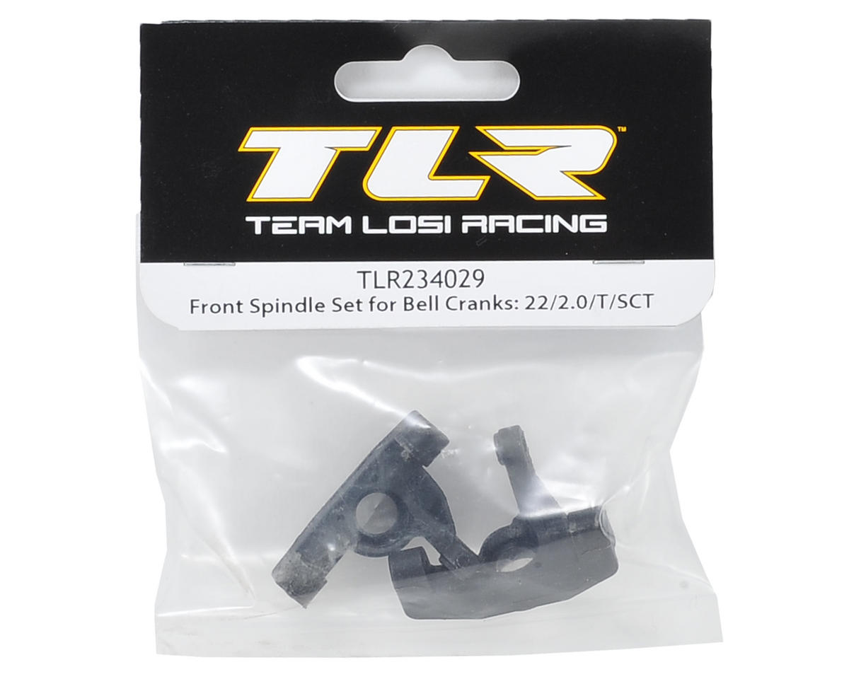 Team Losi Racing Front Spindle Set (Bell Crank)