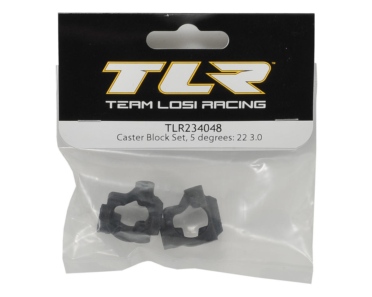22 3.0 5° Caster Block Set by Team Losi Racing