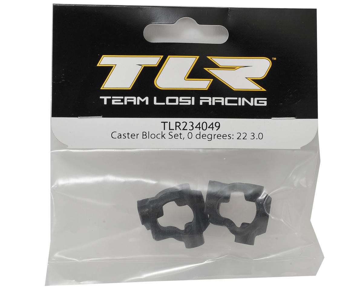Team Losi Racing 22 3.0 0° Caster Block Set