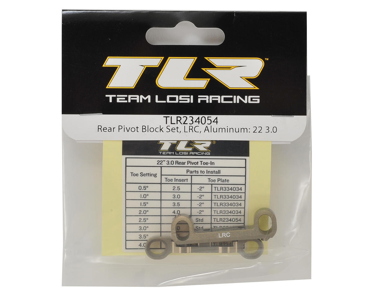 Team Losi Racing 22 3.0 Aluminum LRC Rear Pivot Block Set