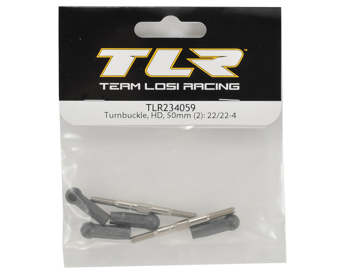 Team Losi Racing 22 3.0 50mm HD Turnbuckle Set (2)