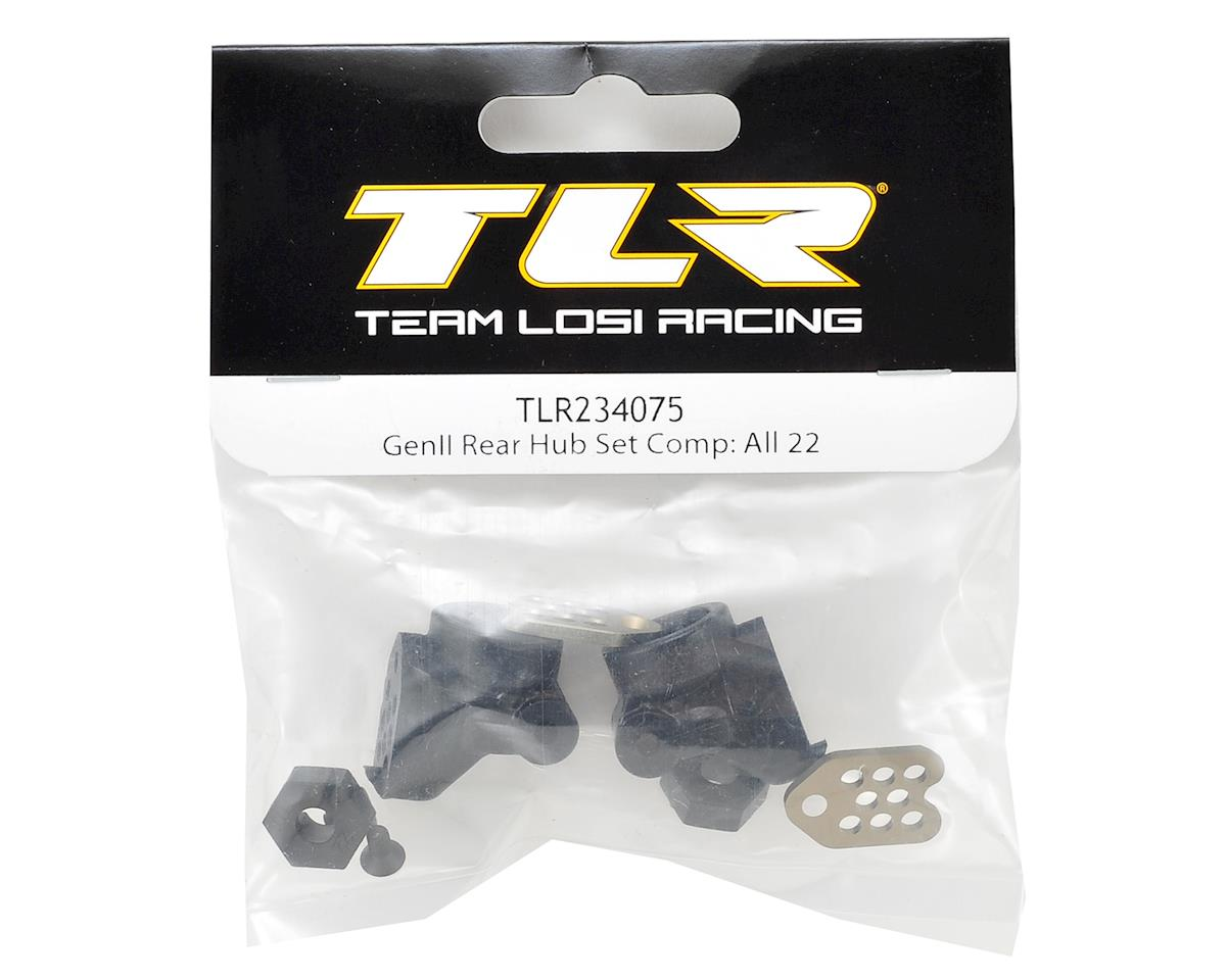 Team Losi Racing 22 Gen II Complete Rear Hub Set