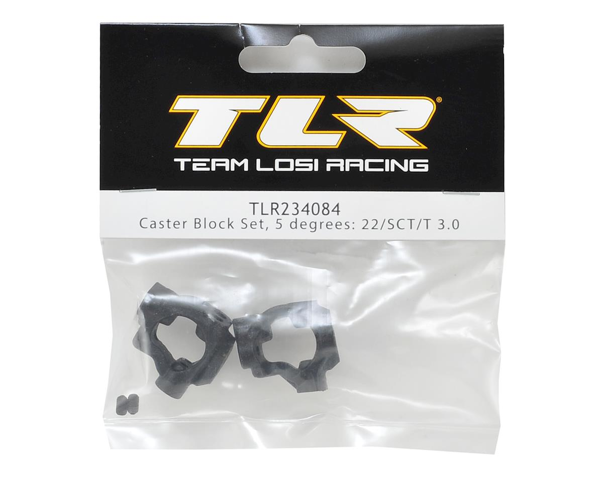 Team Losi Racing 22 4.0 5° Caster Block Set