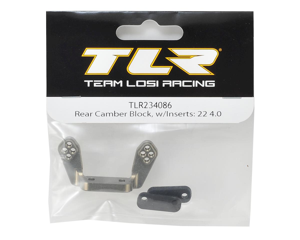 Team Losi Racing 22 4.0 Rear Camber Block w/Inserts