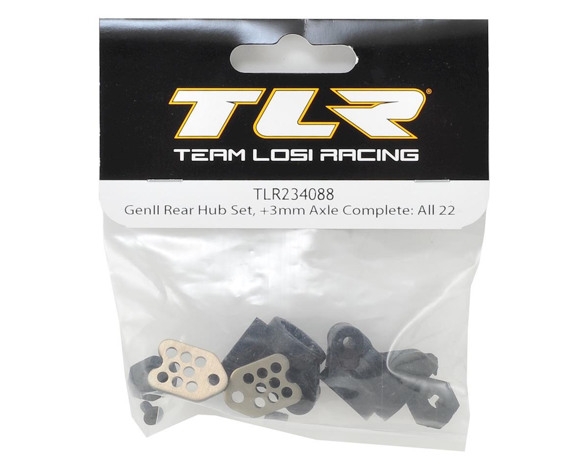 Team Losi Racing Gen II +3.5 Rear Hub Set