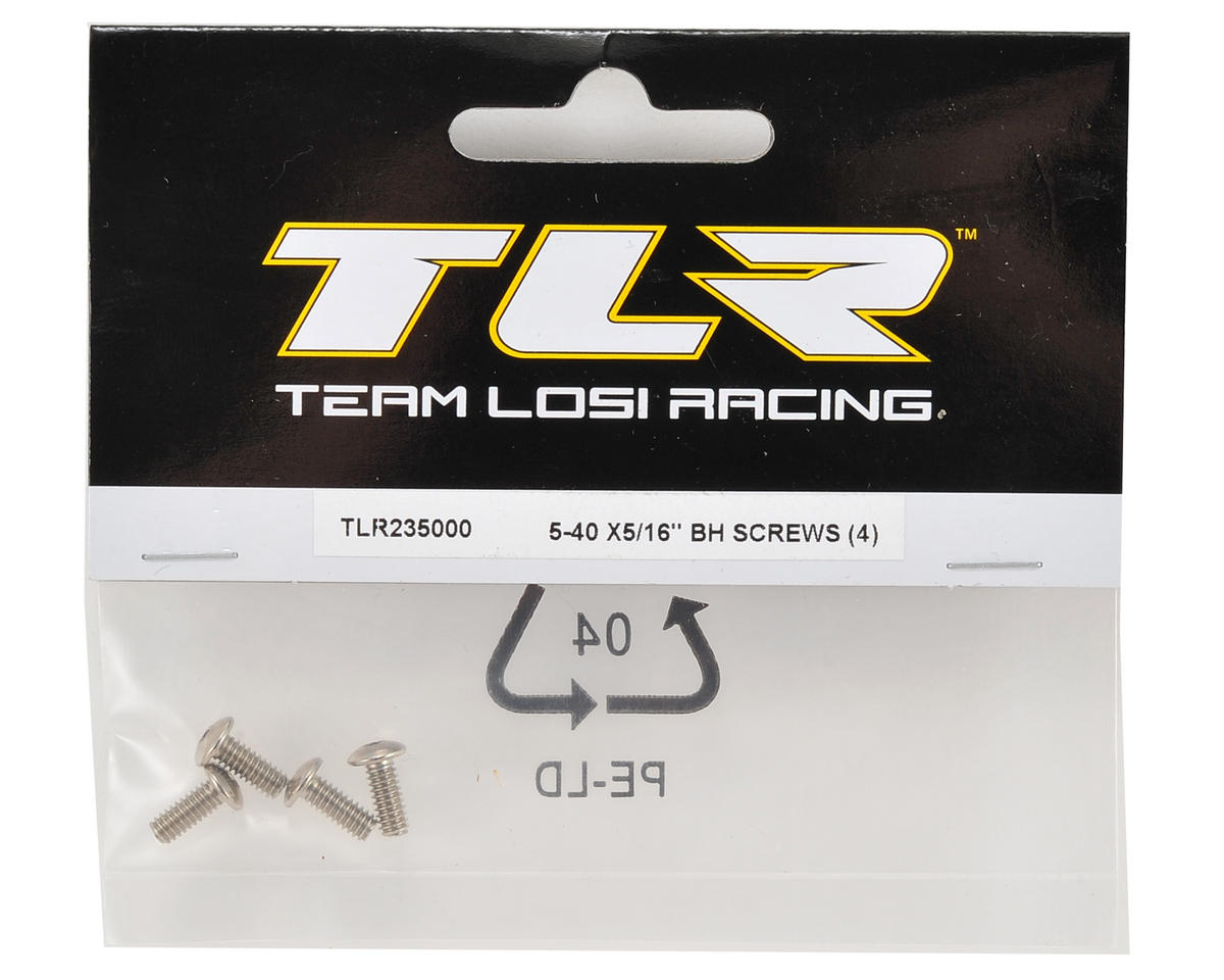 """5-40 x 5/16"""" Button Head Screw (4) by Team Losi Racing"""