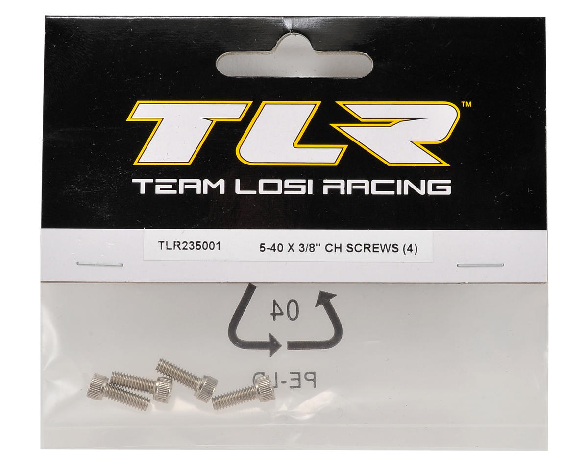 "Team Losi Racing 5-40 x 3/8"" Cap Head Screw (4)"