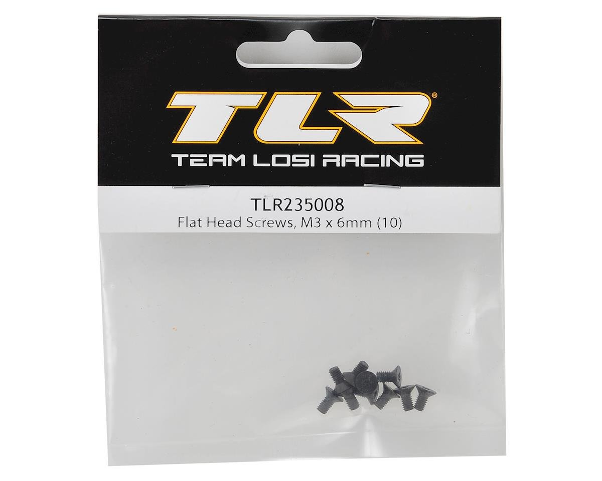 Team Losi Racing M3x6mm Flat Head Screws (10)