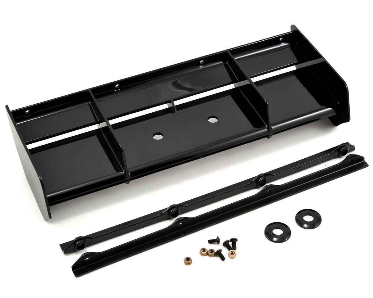 8IGHT 3.0 Wing (Black) by Team Losi 8IGHT-T 4.0 Racing
