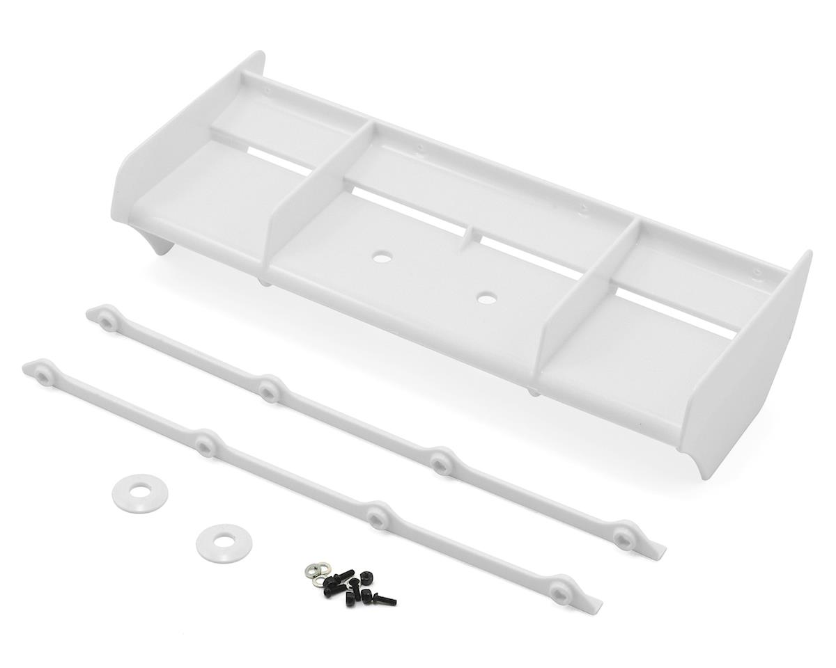 Team Losi Racing Plastic 1/8 Buggy Wing w/Wickerbill (White) (IFMAR Legal)