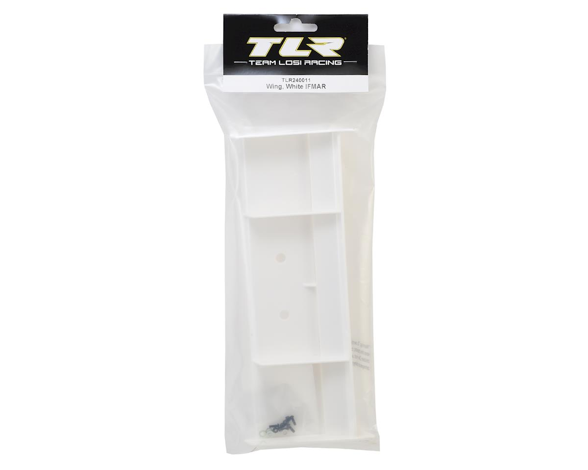 Image 2 for Team Losi Racing Plastic 1/8 Buggy Wing w/Wickerbill (White) (IFMAR Legal)