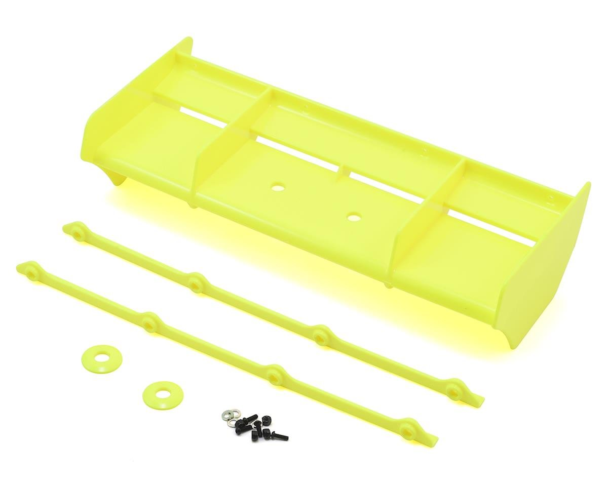 Team Losi Racing Plastic 1/8 Buggy Wing w/Wickerbill (Yellow) (IFMAR Legal)