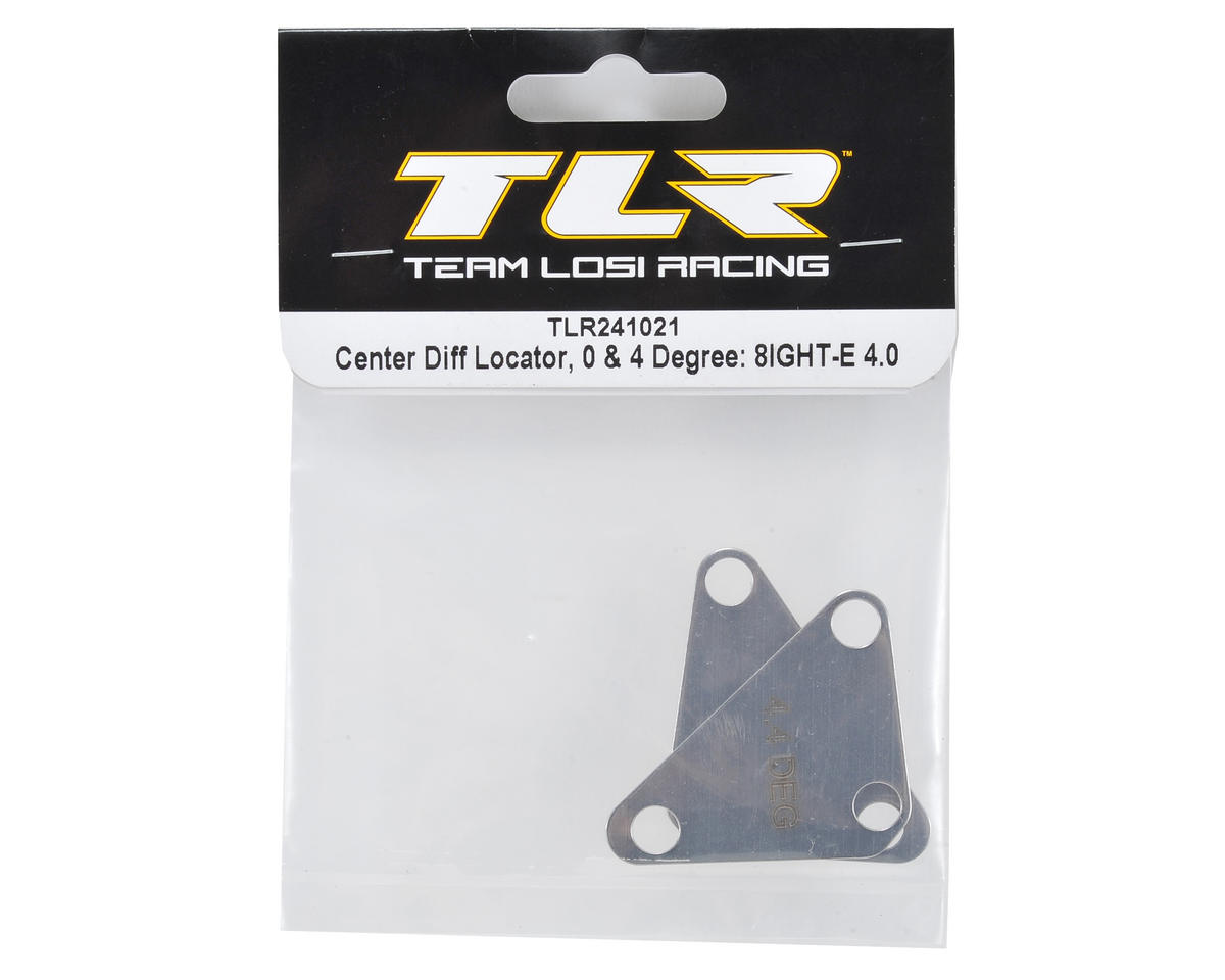 Team Losi Racing 0° & 4° Center Differential Locator Set