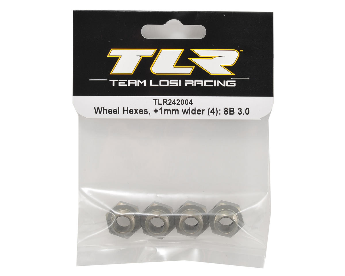 Image 2 for Team Losi Racing +1mm Wheel Hex Set (4)