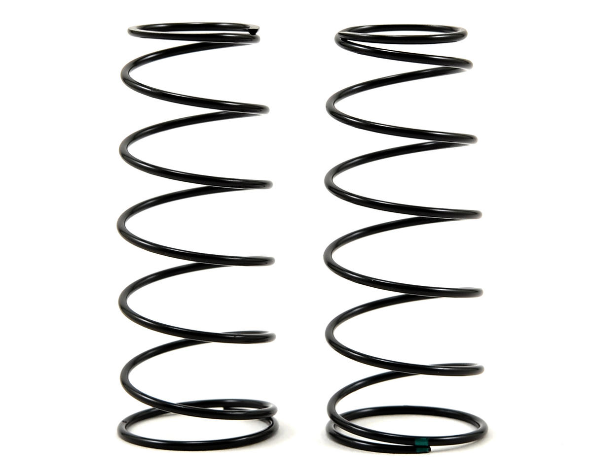 Team Losi Racing 16mm Front Shock Spring Set (Green - 4.8 Rate) (2)