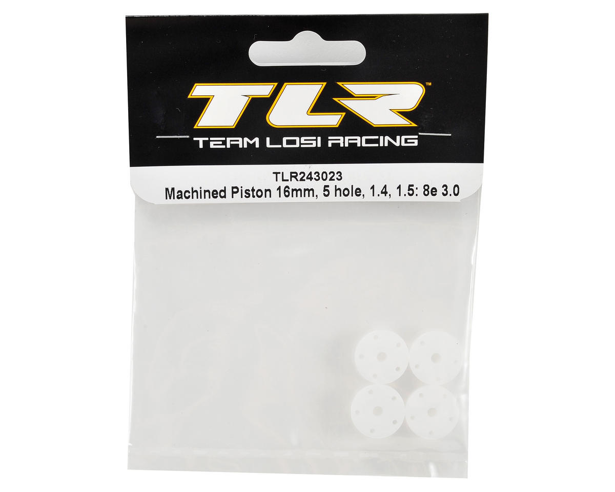 Team Losi Racing 16mm 5-Hole Machined Piston Set (1.4 & 1.5mm)