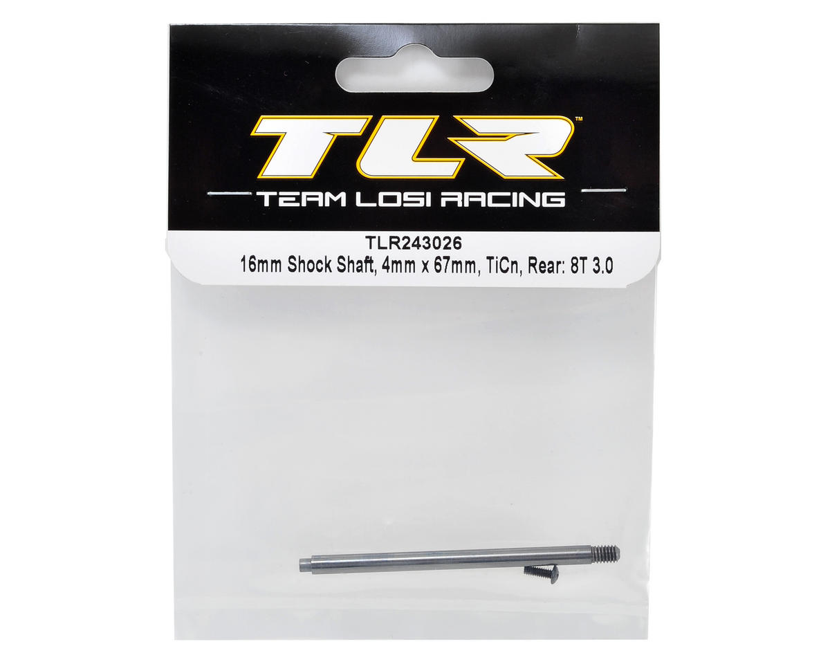 Team Losi Racing 8IGHT-T 3.0 4x67mm TiCn Rear 16mm Shock Shaft