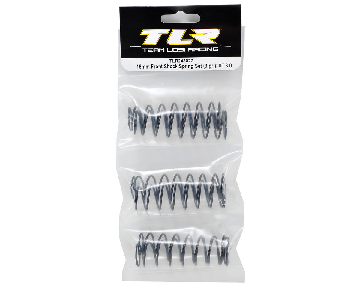 Team Losi Racing 8IGHT-T 3.0 16mm Tapered Front Shock Spring Set (3 Pair)