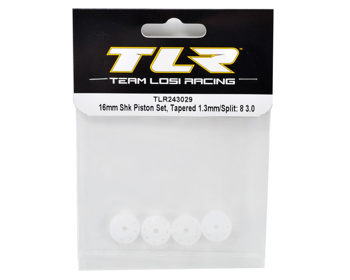 Team Losi Racing 16mm Tapered Shock Piston Set (1.3mm/1.2-1.3 Split)