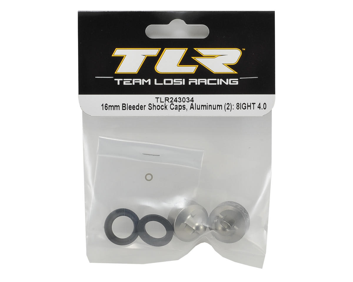 Team Losi Racing 8IGHT 4.0 Aluminum 16mm Bleeder Shock Caps (2)
