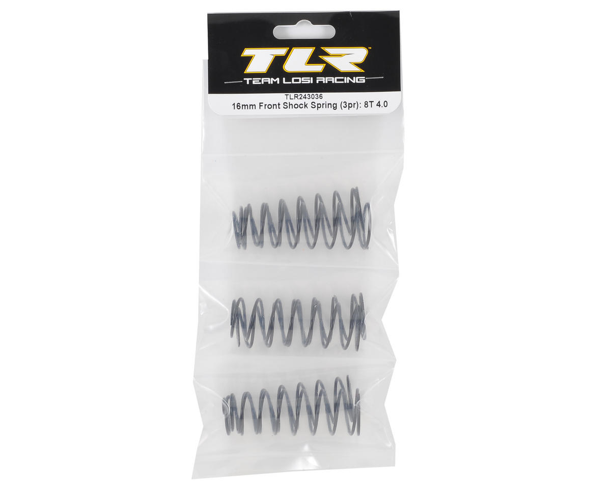 Team Losi Racing 16mm Front 8IGHT-T 4.0 Shock Spring Set (3 pair)