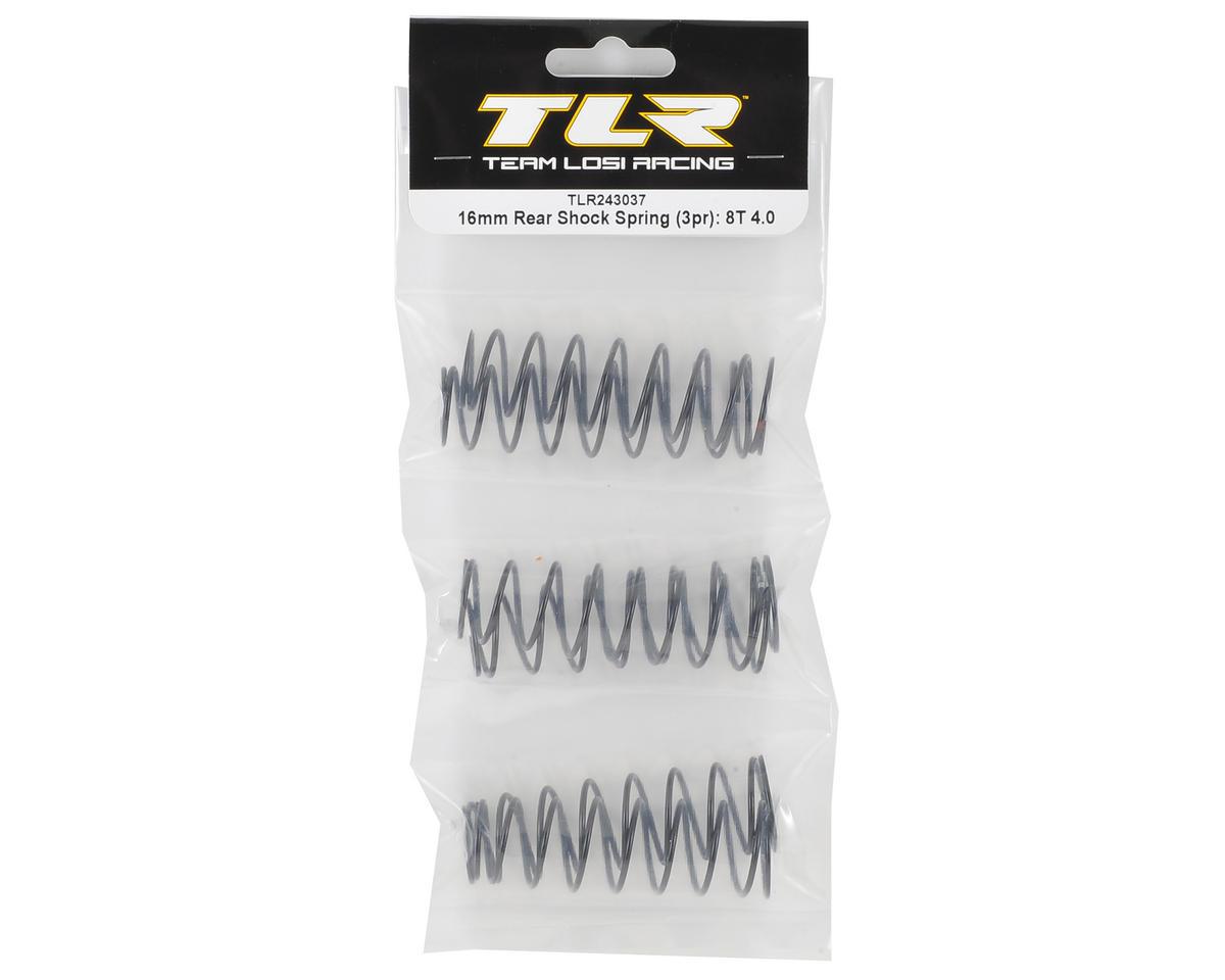 Team Losi Racing 16mm Rear 8IGHT-T 4.0 Shock Spring Set (3 pair)