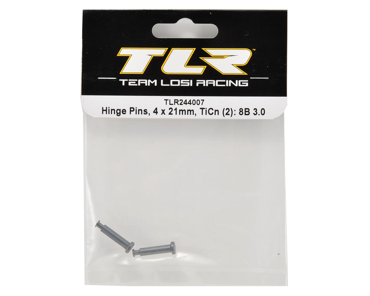 Team Losi Racing 4x21mm TiCn Nitride Hinge Pins (2)