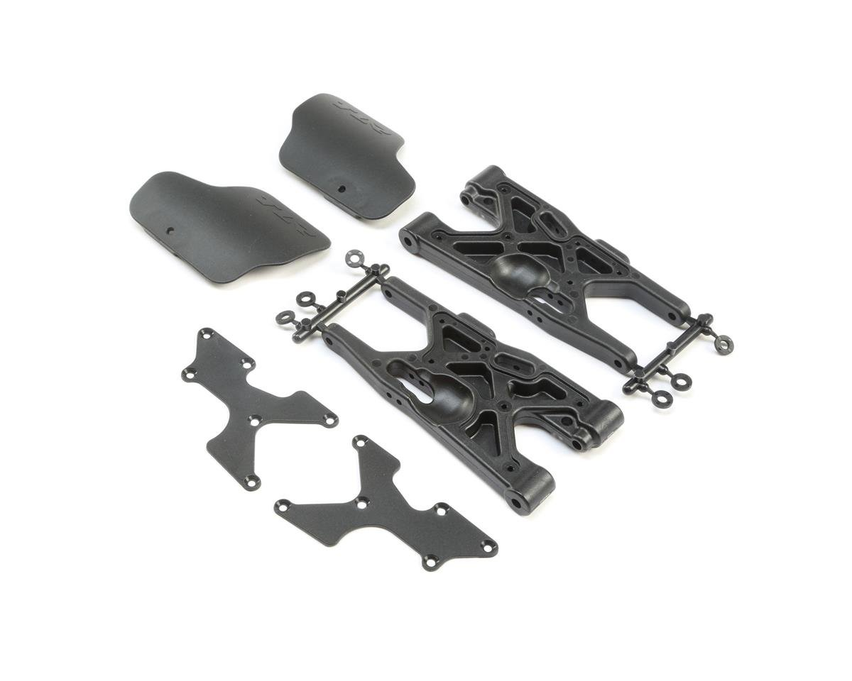 Team Losi Racing 8IGHT-X Rear Arm Set w/Mud Guards (2)