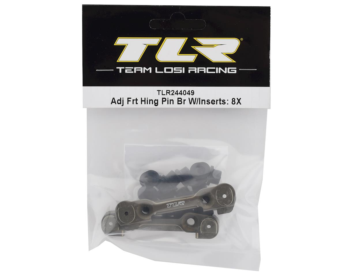 Team Losi Racing 8IGHT-X Adjustable Front Hinge Pin Brace Set w/Inserts