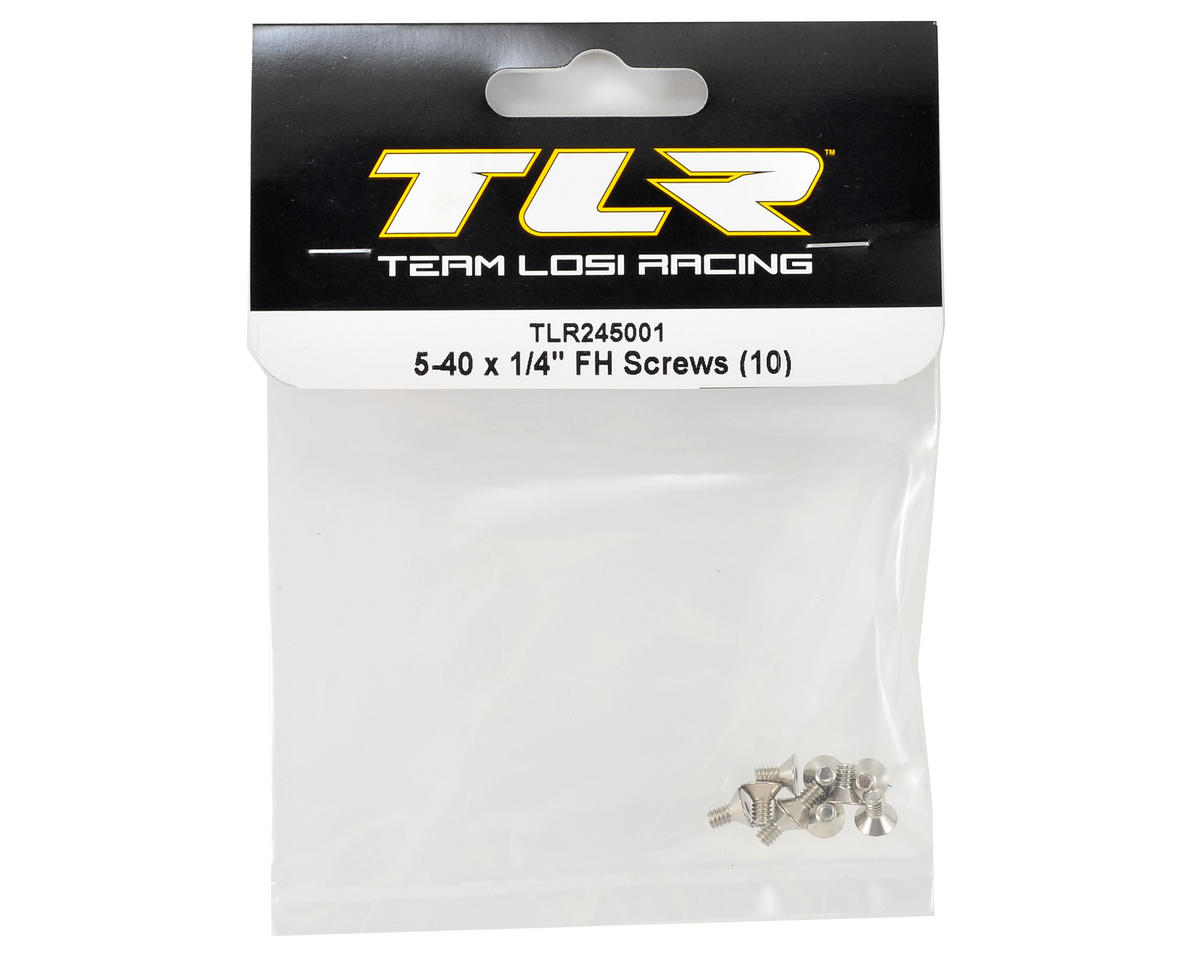 "Team Losi Racing 5-40x1/4"" Flat Head Hex Screw (10)"
