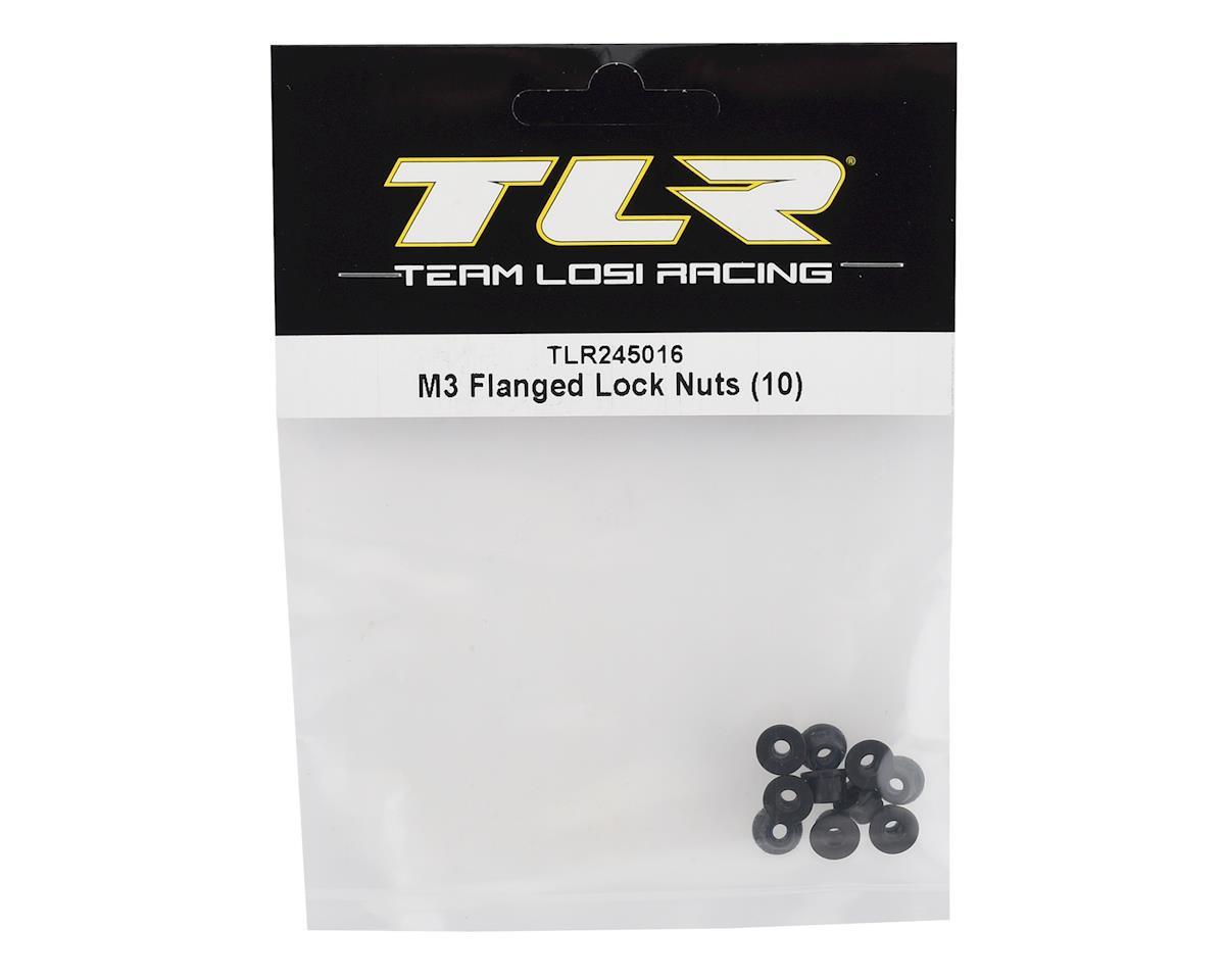 Team Losi Racing M3 Flanged Lock Nuts (10)