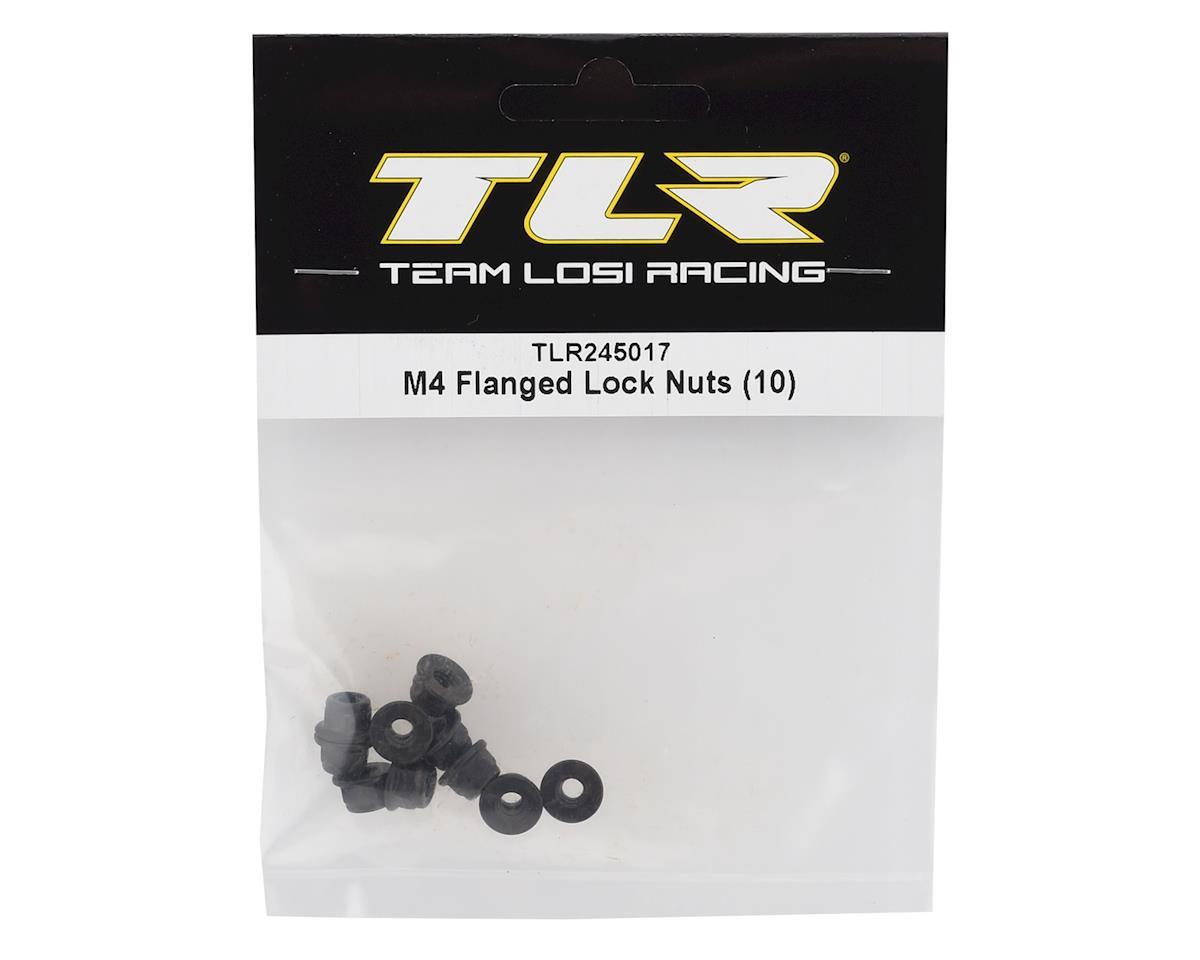 Team Losi Racing M4 Flanged Lock Nuts (10)