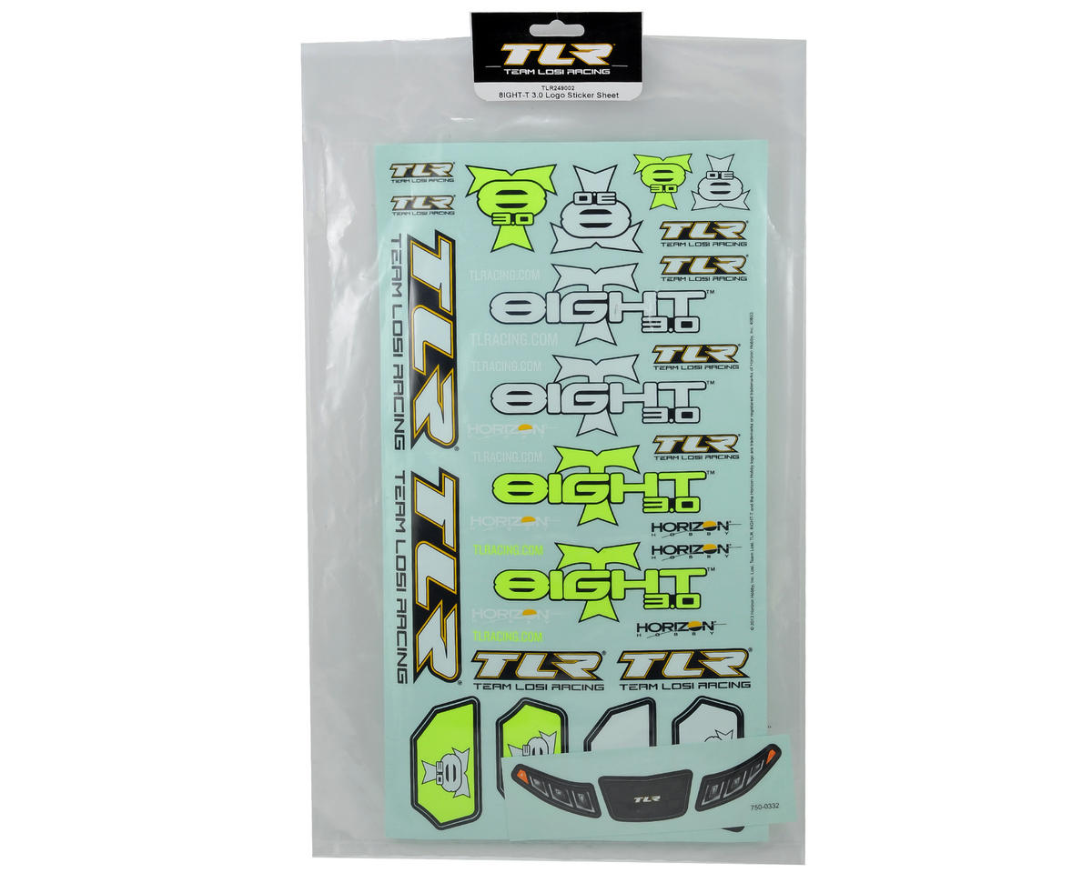 Team Losi Racing 8IGHT-T 3.0 Logo Sticker Sheet