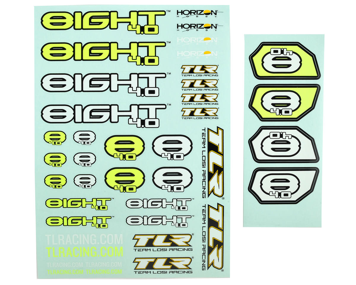 Team Losi Racing 8IGHT 4.0 Sticker Sheet